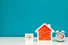 Trois horloges Image libre de droits