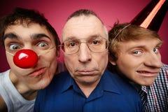 Trois imbéciles Photographie stock libre de droits