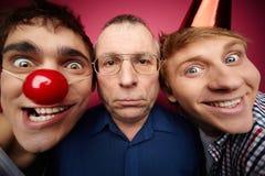 Trois imbéciles d'avril Photo stock