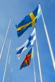 Trois indicateurs nordiques Photographie stock libre de droits