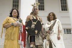 Trois Indiens d'Amerique Images libres de droits