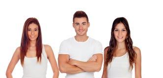 Trois jeunes amis Photos libres de droits