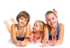 Trois jeunes belles filles photo stock