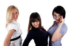 Trois jeunes filles avec du charme Photos libres de droits