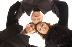 Trois jeunes personnes d'affaires dans des vêtements formels Image libre de droits