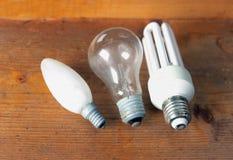 Trois lampes électriques image stock