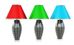 Trois lampes Photo libre de droits