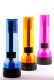 Trois lampes-torches Photo libre de droits