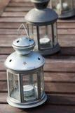 Trois lanternes Photographie stock