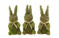 Trois lapins de Pâques Photographie stock