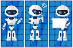 Trois le blanc brillant AI usine l'illustration de vecteur Image stock