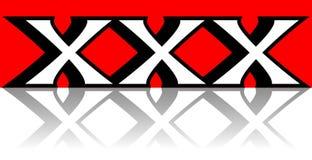 Trois lettres rouges de X Illustration Stock