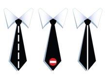 Trois liens de cou d'homme d'affaires avec des lignes de route. Images libres de droits