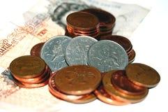 Trois lions sur des pièces de monnaie Photographie stock libre de droits