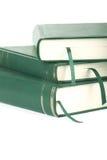 Trois livres blanc verts avec des signets Image libre de droits