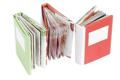 Trois livres de cadeau miniatures Photographie stock