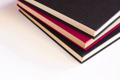 Trois livres empilés photographie stock