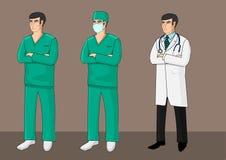 Trois médecins Illustration Libre de Droits