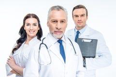 Trois médecins sûrs image libre de droits