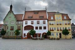 Trois maisons Photo libre de droits
