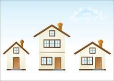 Trois maisons Illustration Libre de Droits