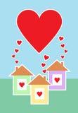 Trois maisons complètement d'amour Photographie stock libre de droits