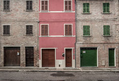 Trois maisons de brique Images libres de droits