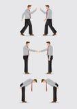 Trois manières de la salutation fait des gestes l'illustration de vecteur illustration libre de droits