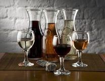 Trois marques de vin Photo libre de droits