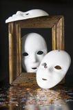 Trois masques blancs Photographie stock libre de droits