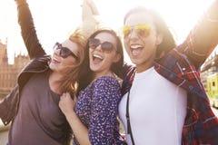 Trois meilleures amies Images libres de droits