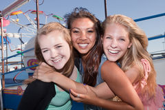 Trois meilleurs amis ensemble Image libre de droits