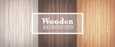 Trois milieux en bois illustration stock