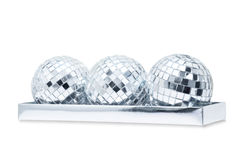 Trois mirrorballs brillants Photographie stock libre de droits