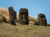 Trois Moai Photographie stock libre de droits