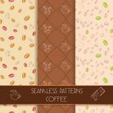 Trois modèles classiques de café illustration stock