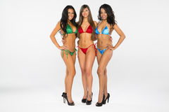 Trois modèles de bikini Photographie stock