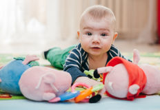 Trois-mois d'enfant Images libres de droits