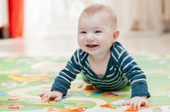 Trois-mois d'enfant Photographie stock libre de droits