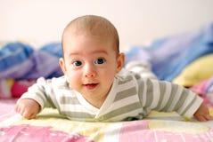 Trois mois de sourire de bébé Images stock