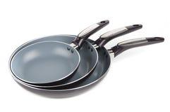 Trois morceaux de casserole Image stock