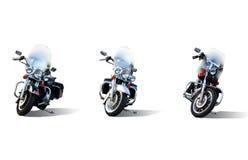 Trois motos photo stock