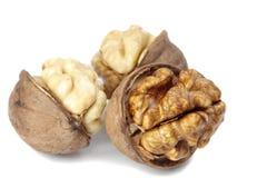 Trois noix de noix Photos stock