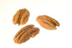 Trois noix de pécan Photo libre de droits