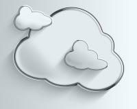 Trois nuages pelucheux de Chrome avec des ombres Images libres de droits