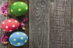 Trois oeufs de pâques Image libre de droits