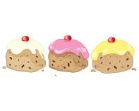 Trois ont glacé des petits pains illustration libre de droits