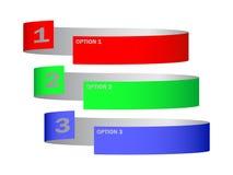 Trois options Image libre de droits