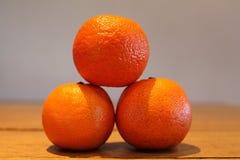 Trois oranges Images stock