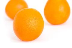 Trois oranges Photos libres de droits